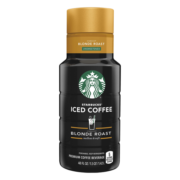 Starbucks Iced Coffee Blonde Roast Premium Coffee Beverage Unsweetened
