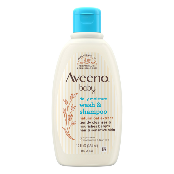 Aveeno Baby Wash & Shampoo Lightly Scented Tear-Free