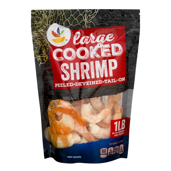 Giant Cooked Shrimp Tail-On Extra Large - 26-30 ct per lb Frozen