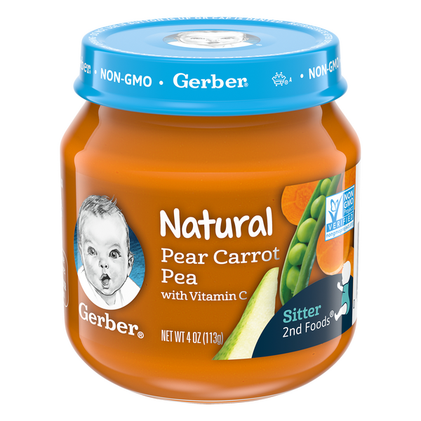 Gerber 2nd Baby Food Pear Carrot Pea with Vitamin C Natural