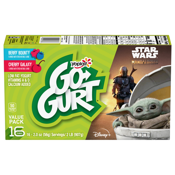Yoplait Go-GURT Yogurt Ninja Turtles Berry & Cherry - 16 ct