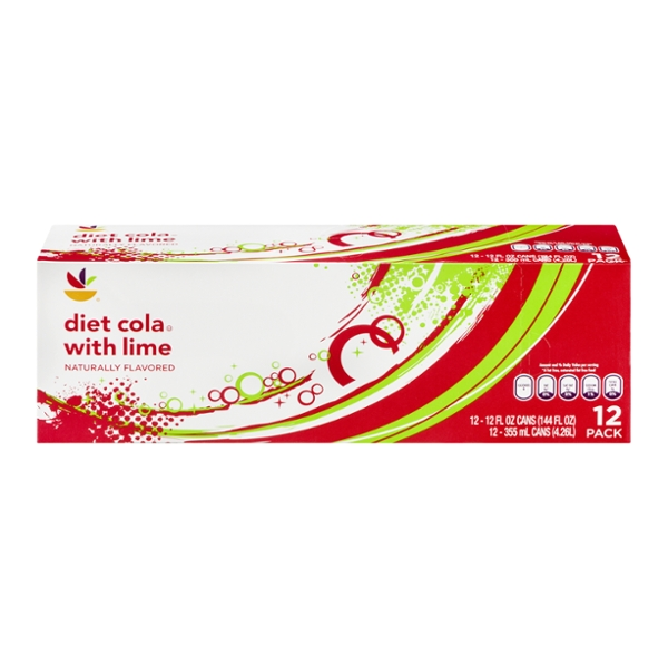 GIANT Diet Cola with Lime - 12 pk