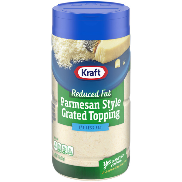 Kraft Reduced Fat Parmesan Style Grated Topping