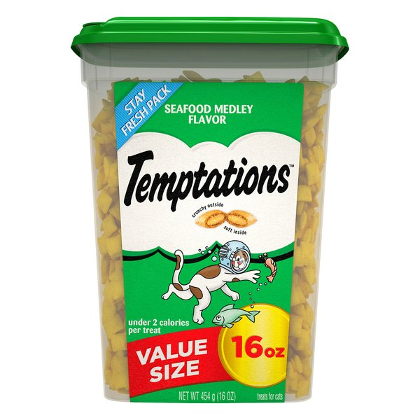 Temptations Cat Treats Seafood Medley Value Size