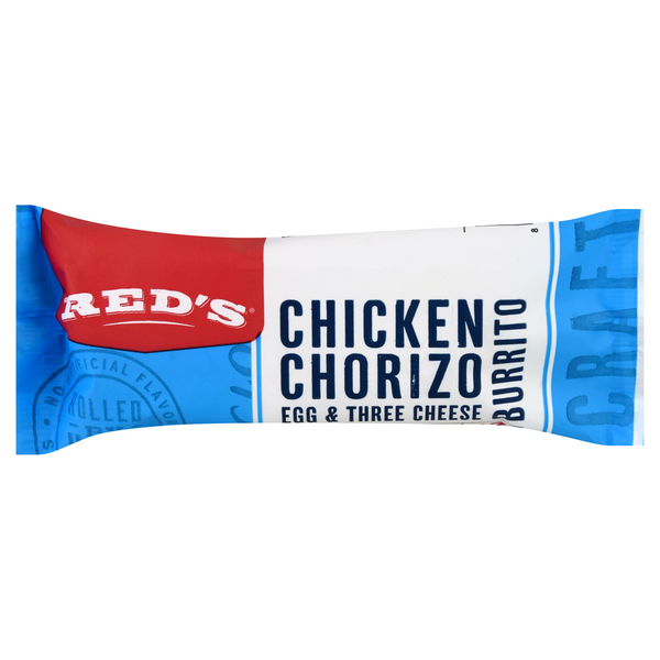 Red's Natural Chicken Chorizo Egg & Cheese Burrito