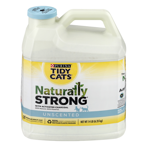 Tidy Cats Naturally Strong Cat Litter with Activated Charcoal Unscented
