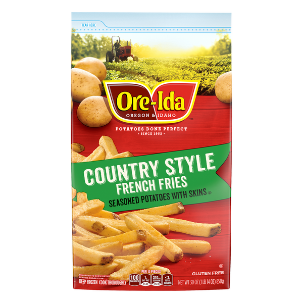 Ore-Ida Country Style French Fries Seasoned Potatoes with Skins