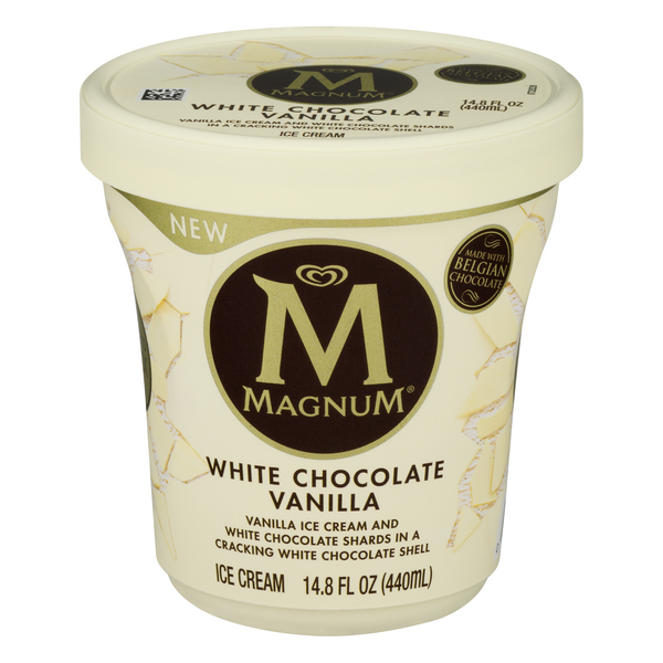 Magnum White Ice Cream Vanilla with White Chocolate Shards