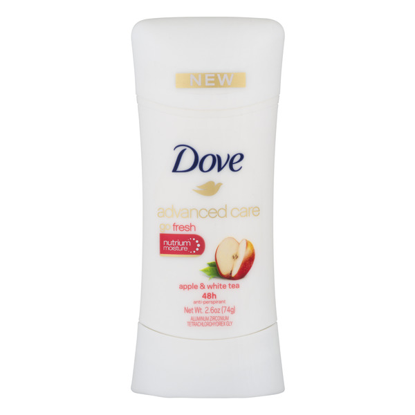 Dove Women's Advanced Care go Fresh Deodorant Apple & White Tea Solid
