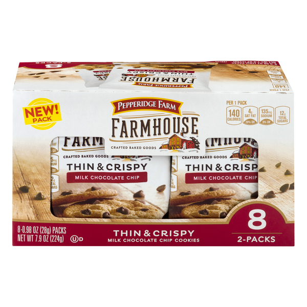 Pepperidge Farm Farmhouse Thin & Crispy Milk Chocolate Chip Cookies - 8 ct