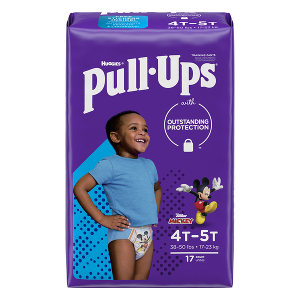 Huggies Pull-Ups Learning Designs 4T-5T Training Pants Boys 38-50 lbs