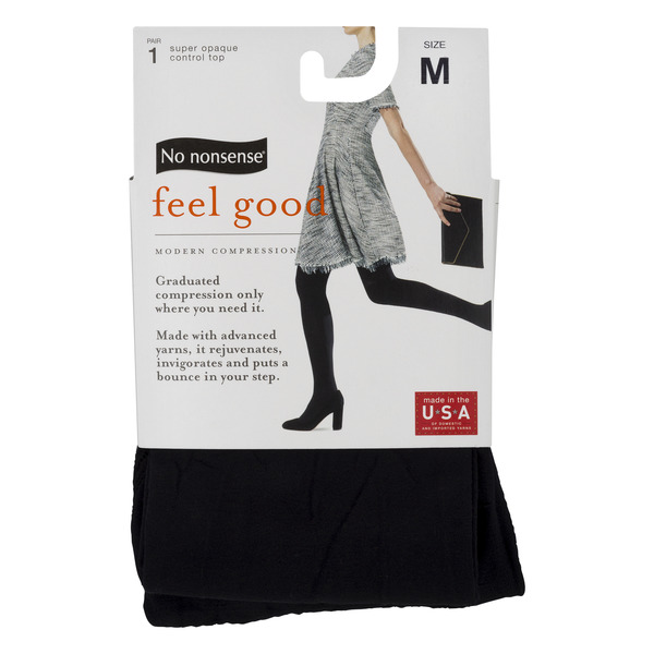 No nonsense Feel Good Super Opaque Control Top M