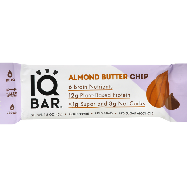 IQ Bar Protein Bar Almond Butter Chip