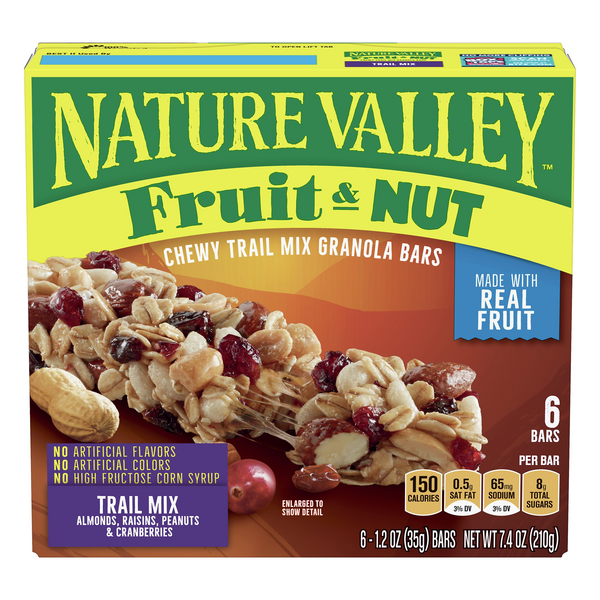 Nature Valley Chewy Trail Mix Granola Bars Fruit & Nut - 6 ct