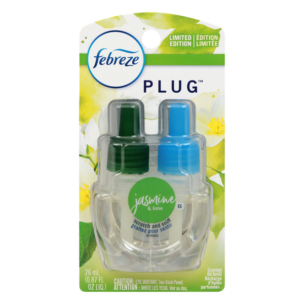 Febreze Plug Scented Oil Refill Jasmine & Lime Limited Edition