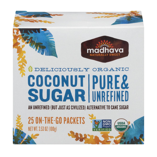 Madhava Coconut Sugar On-The-Go-Packets Organic - 25 ct
