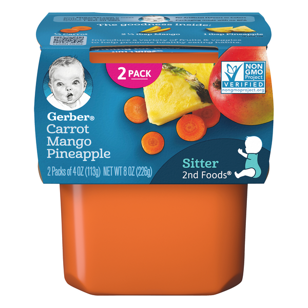Gerber 2nd Foods Carrot Mango Pineapple - 2 ct