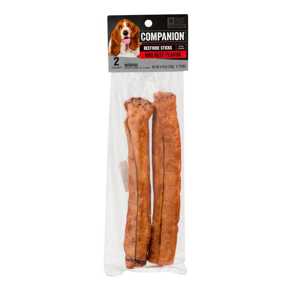 Companion Dog Chew Beefhide Sticks BBQ Beef