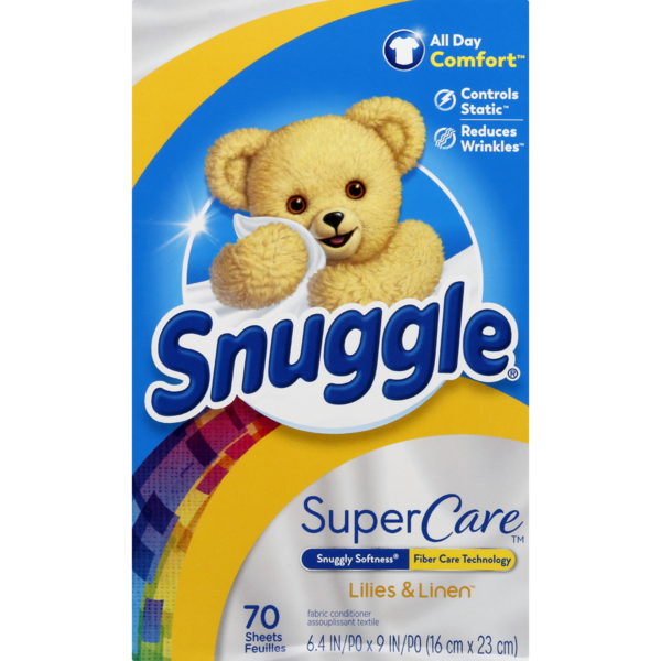 Snuggle SuperCare Fabric Conditioner Dryer Sheets Lilies & Linen