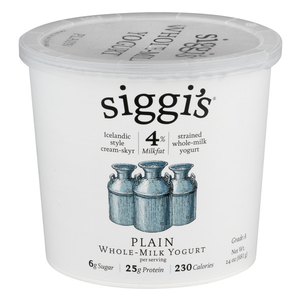 Siggi's Cream Skyr Whole Milk Yogurt Plain 4% Milkfat