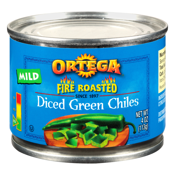 Ortega Fire Roasted Diced Green Chiles Mild