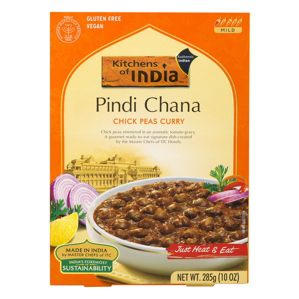 Kitchens of India Just Heat & Eat Pindi Chana Curry Chick Peas Vegetarian