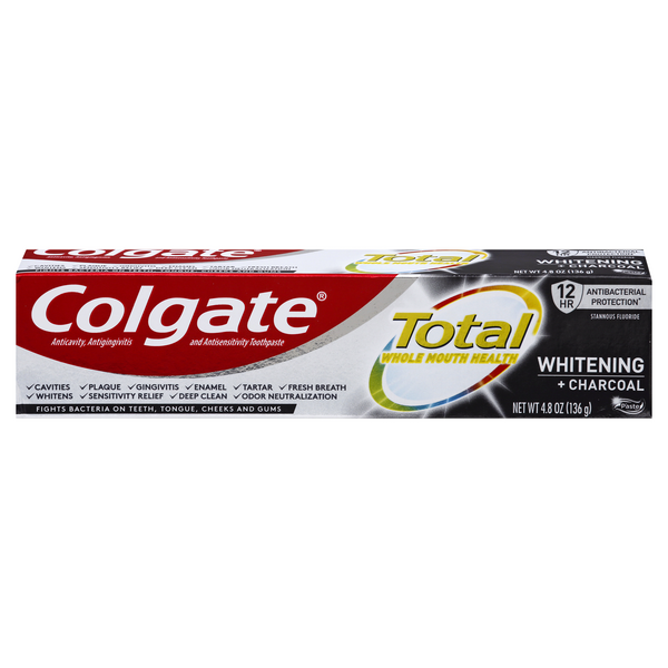 Colgate Total Whitening + Charcoal Toothpaste