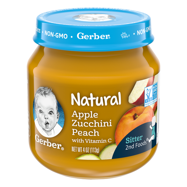 Gerber 2nd Baby Food Apple Zucchini Peach Natural