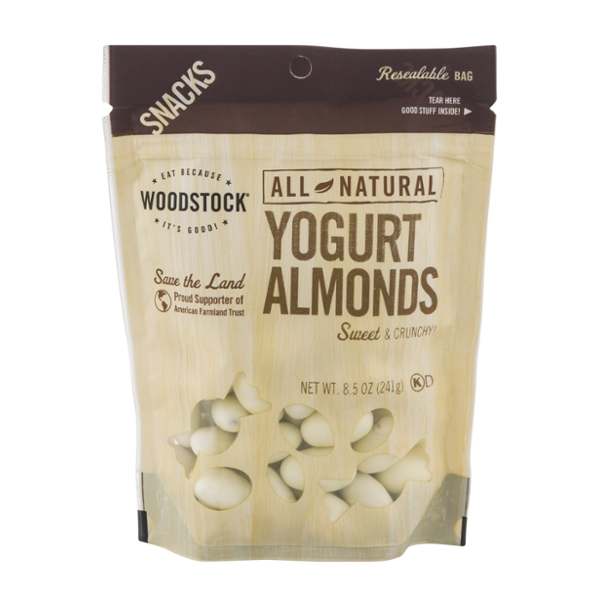 Woodstock Almonds Yogurt Covered Natural