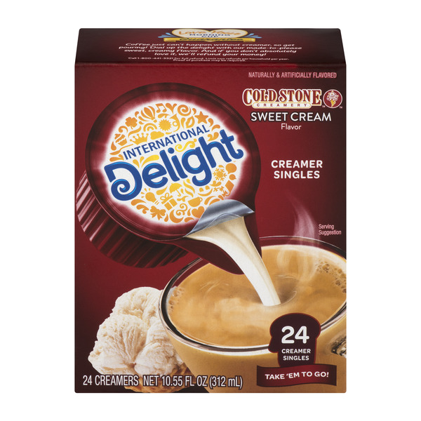 International Delight Cold Stone Coffee Creamer Sweet Cream Singles 24 ct
