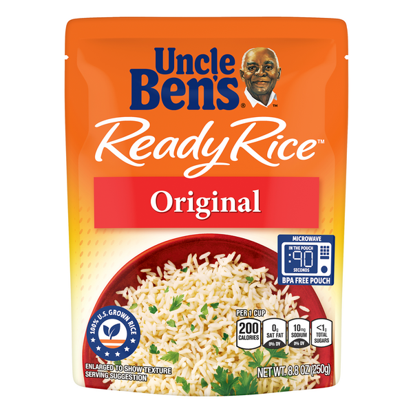 Uncle Ben's Ready Rice White Rice Enriched Long Grain Original All Natural