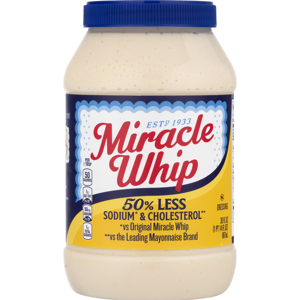 Miracle Whip Dressing 50% Less Sodium & Cholesterol