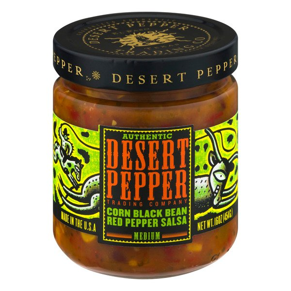 Desert Pepper Corn Black Bean Red Pepper Salsa Medium