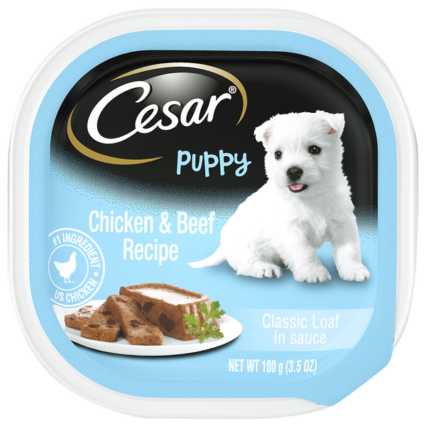 Cesar Classic Loaf in Sauce Wet Puppy Food Chicken & Beef Recipe