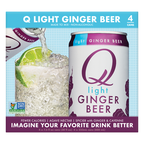 Q Ginger Beer Light - 4 pk