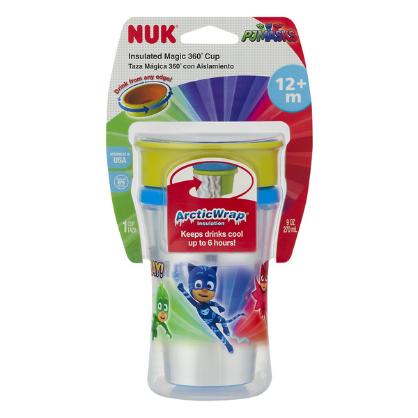 NUK Insulated Magic 360 Degree Cup PJMasks 9 oz
