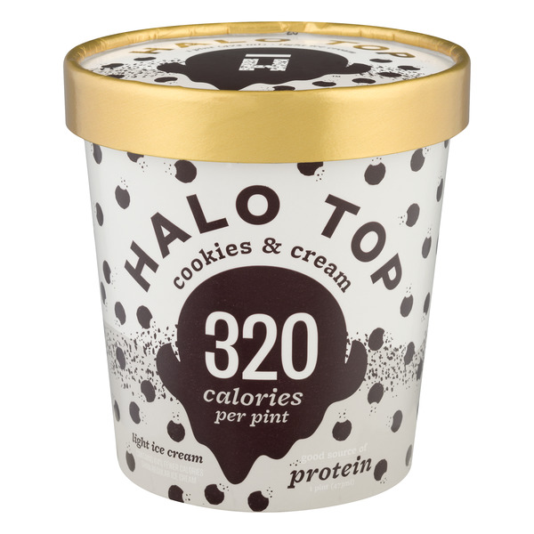 Halo Top Light Ice Cream Cookies & Cream