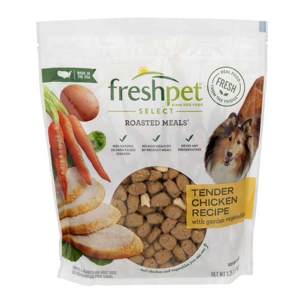 Freshpet Select Roasted Meals Refrigerated Dog Food Tender Chicken Recipe