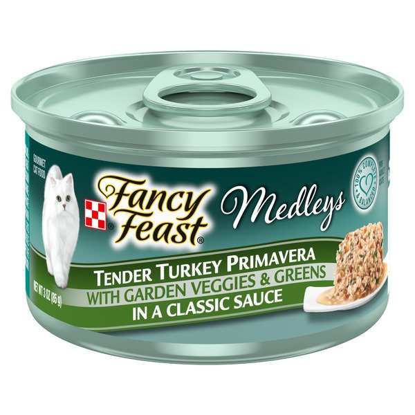 Fancy Feast Medleys Wet Cat Food Tender Turkey Primavera