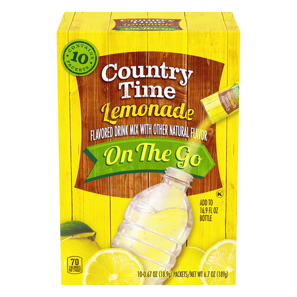 Country Time On The Go Drink Mix Lemonade - 10 ct