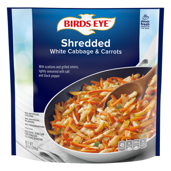 Birds Eye Shredded White Cabbage & Carrots Keep Frozen