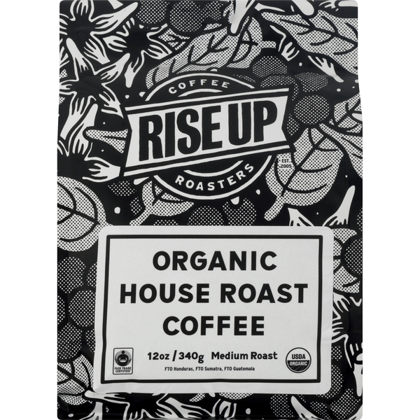 Rise Up Coffee Roasters House Roast Medium Coffee Organic (Ground)
