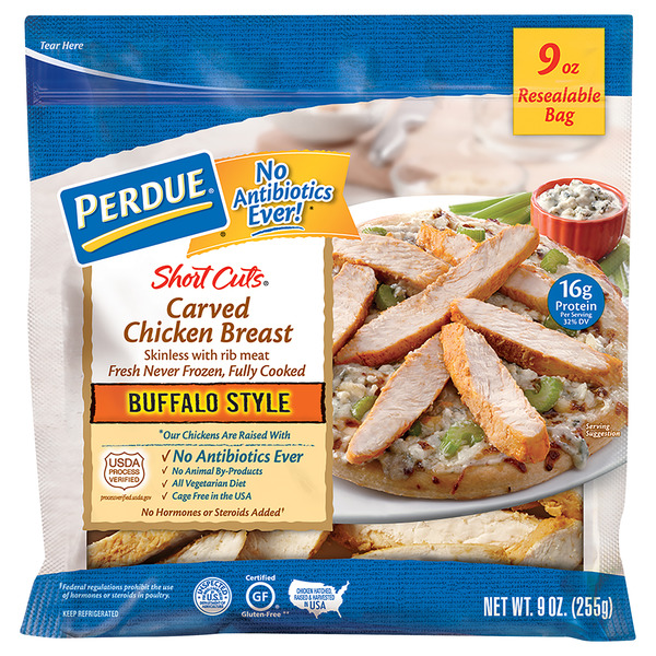 Perdue Short Cuts Carved Chicken Breast Buffalo Style Fresh Gluten Free