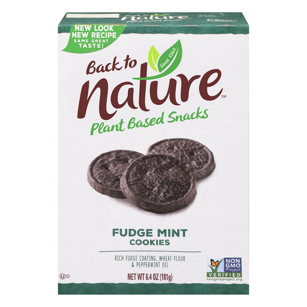 Back to Nature Fudge Cookies Mint