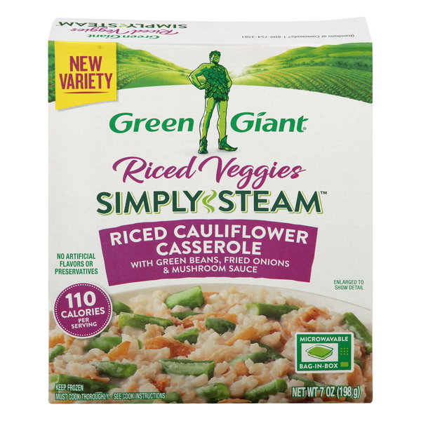 Green Giant Riced Veggies Simply Steam Riced Cauliflower Casserole
