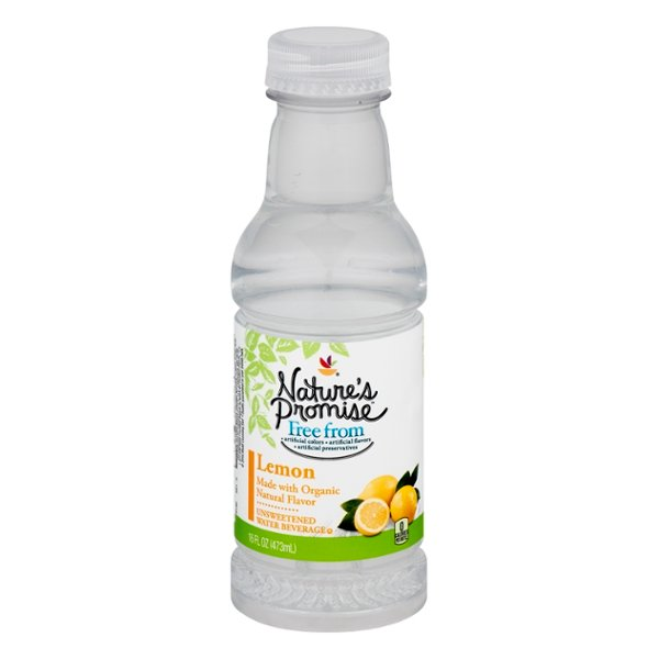 Nature's Promise Free from Flavored Water Beverage Lemon Unsweetened