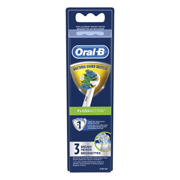 Oral-B Professional Floss Action Replacement Brush Heads