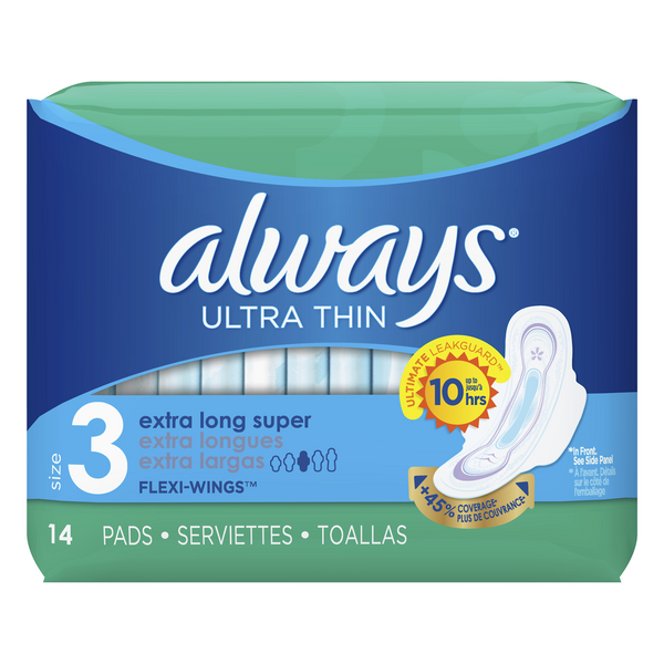 Always Ultra Thin Pads with Flexi-Wings Extra Long Super Size 3