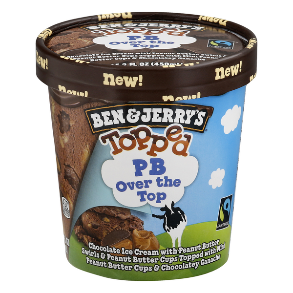 Ben & Jerry's Topped Ice Cream PB Over the Top