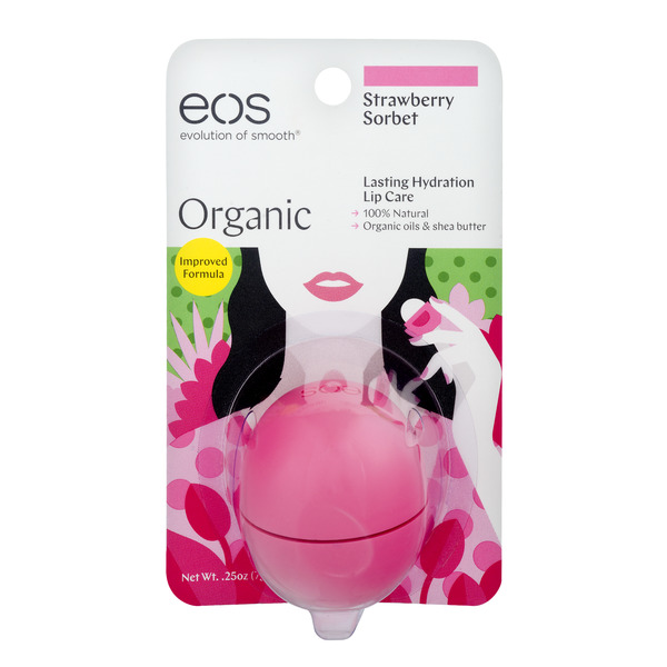 eos Lip Balm Strawberry Sorbet Organic